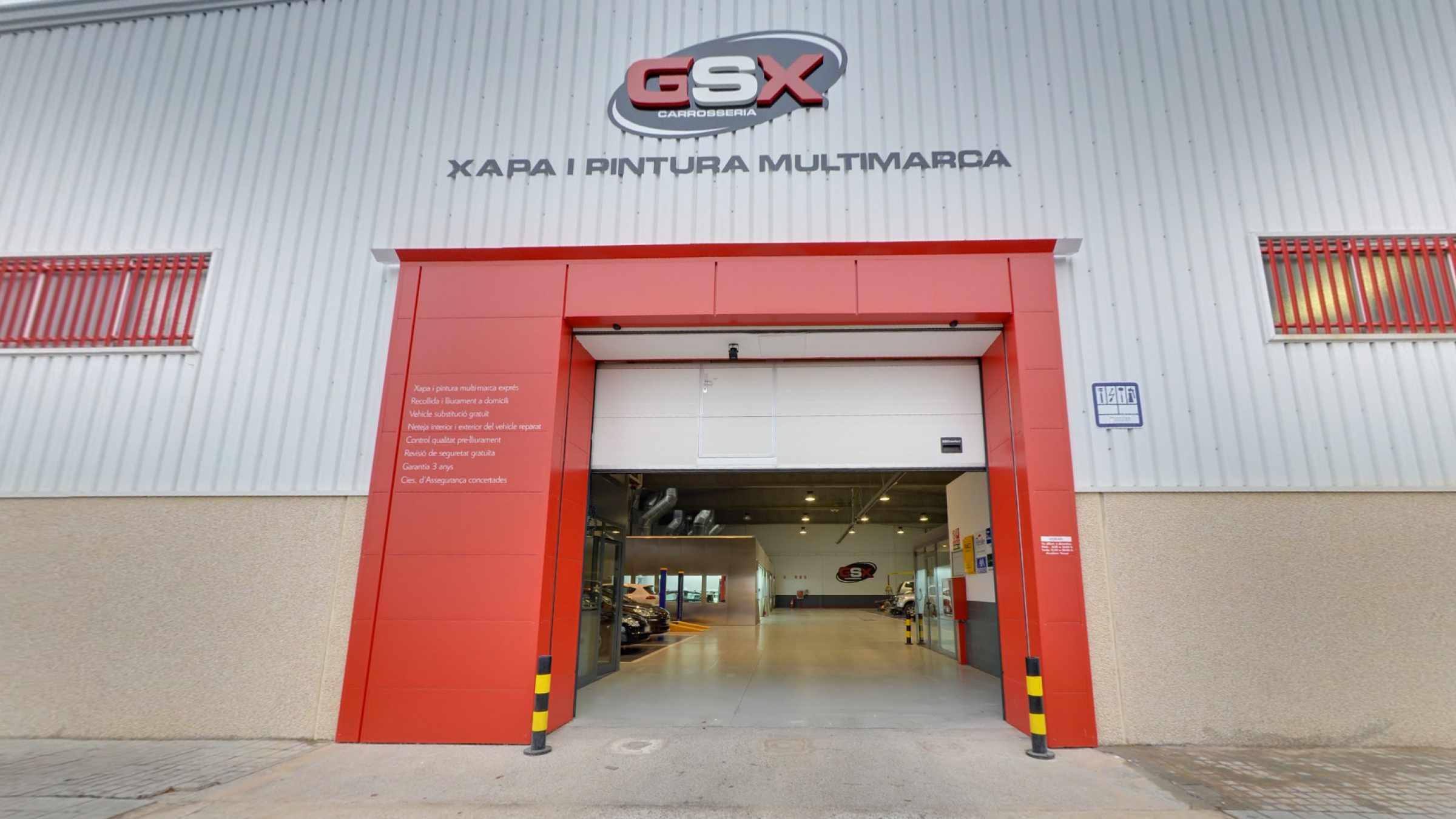 Façana GSX Carrosseria - Taller de xapa i pintura