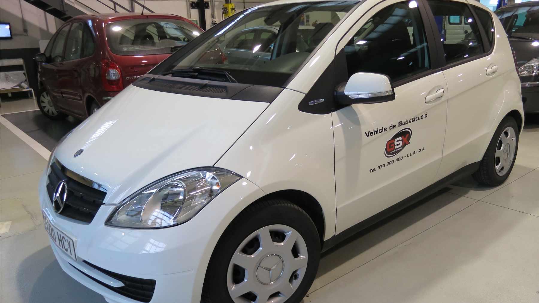 Vehicle de substitució - GSX Carrosseria, Taller de xapa i pintura