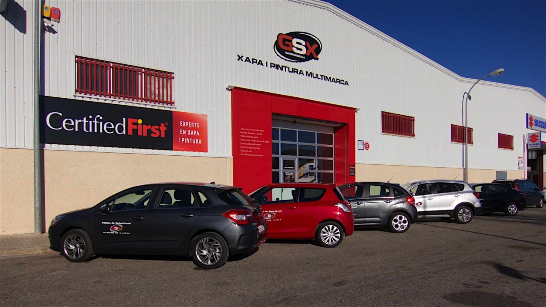Vehicles de substitució - GSX Carrosseria, Taller de xapa i pintura